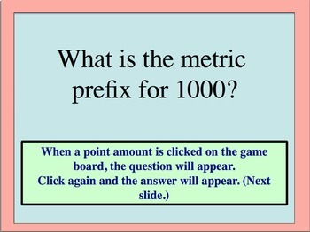 Scientific Measurement Jeopardy Review Game