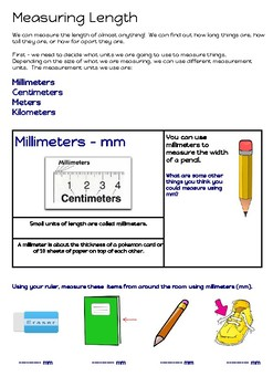 Measurement - Metric Length