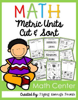 Measurement {Metric Units Practice} Cut & Sort (MASS & VOLUME)