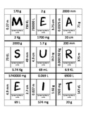 Measurement Metric Units Puzzle