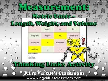 Measurement: Metric Units Thinking Links Activity - Length