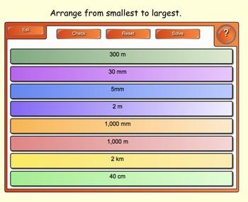 Measurement (Metric Units/Time) Interactive SMARTboard Lesson & Printables