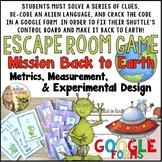Metrics Measuring Experimental Design Escape Room Game Using Google Forms