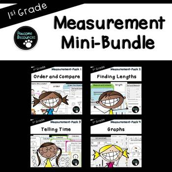 Measurement Mini-Bundle (1.MD.1, 1.MD.2, 1.MD.3, 1.MD.4)