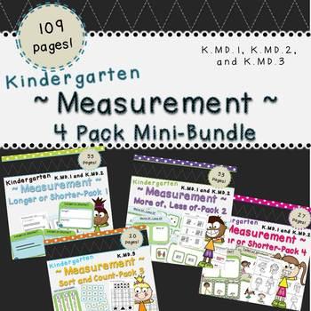 Measurement Mini-Bundle (Kindergarten-K.MD.1, K.MD.2, K.MD.3)