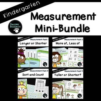 Measurement Mini-Bundle-(Kindergarten, Standards-Aligned)