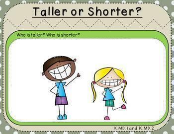 Measurement Bundle-(Kindergarten, Standards-Aligned)