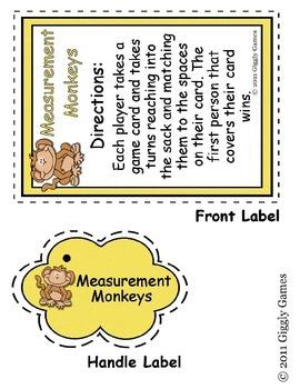 Measurement Monkeys Teaching Tote