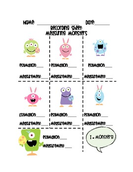 Measurement Monsters (Easter)