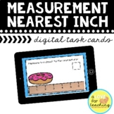 Measurement Nearest Inch Boom Cards {Distance Learning}