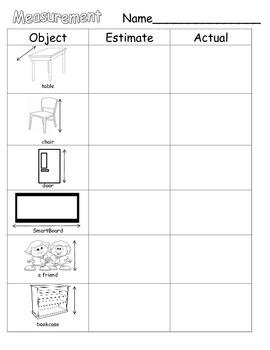Measurement (Non-Standard Units) and Estimation