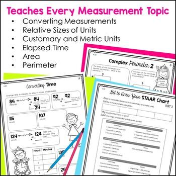 Measurement Notebook 4th Grade TEKS by Marvel Math