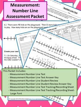 Measurement: Number Line Assessment Packet