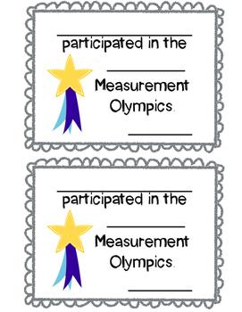 Measurement Olympics Certificate