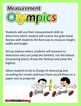 Measurement Olympics {Measurement Activity}