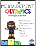 Measurement Competition Task Cards, Graphing, and Awards- Sports Theme