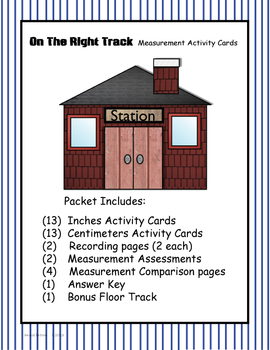Measurement - On The Right Track Activity Cards and More