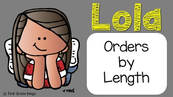 Distance Learning* Measurement- Ordering by Length Math Lesson FREEBIE