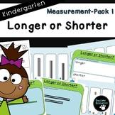 Measurement Pack 1-Longer or Shorter (Kindergarten-K.MD.1 and K.MD.2)
