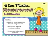 Measurement : Nearest Inch, Half Inch, Quarter Inch