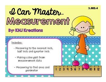 Measurement : Nearest Inch, Half Inch, Quarter Inch
