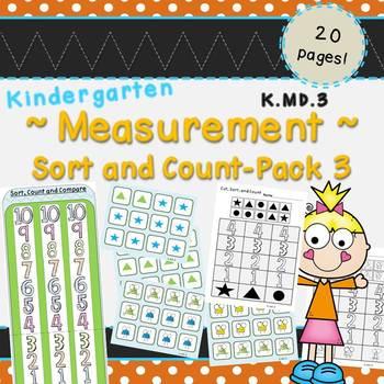 Measurement Pack 3-Sort and Count (Kindergarten-K.MD.3)