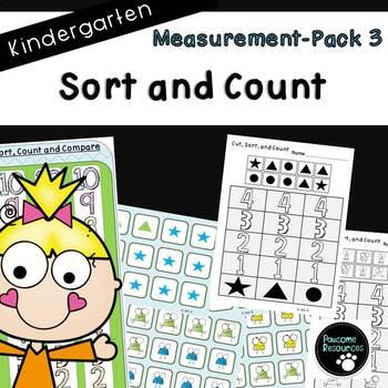 Measurement Pack 3-Sort and Count (Kindergarten, K.MD.3)