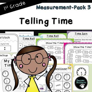 Telling Time-Measurement Pack 3 (First Grade, 1.MD.3)
