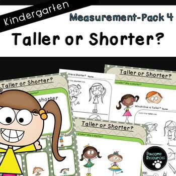 Measurement Pack 4-Taller or Shorter (Kindergarten-K.MD.1