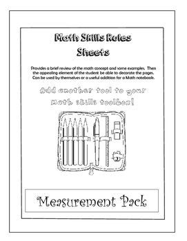 Measurement Pack - Math Review Color Sheets