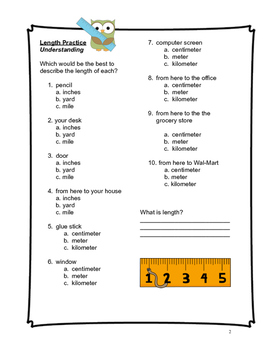 Measurement Packet (4th Grade Common Core)