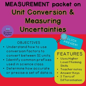 Measurement Packet- Unit Conversion and Measuring Uncertainties