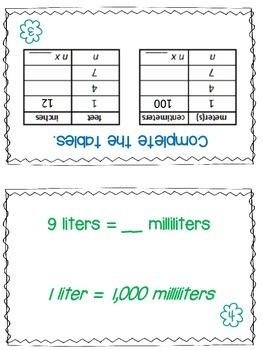 Measurement Partner Practice Activity Task Cards - Set of 30