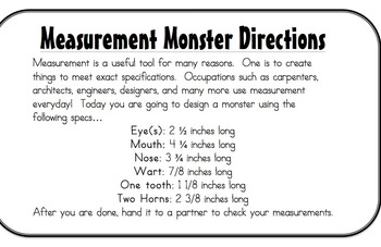 Measurement: Parts of an Inch, using a ruler