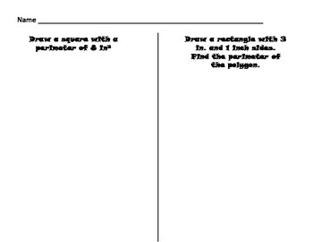 Measurement - Perimeter and Missing Length Task Cards/Scoot -Common Core