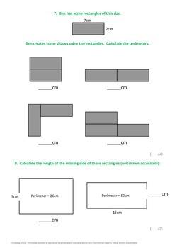 Measurement:  Perimeter of rectilinear shapes