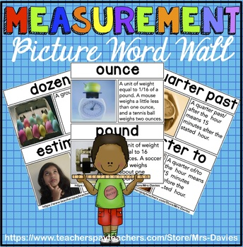 Measurement Picture Word Wall