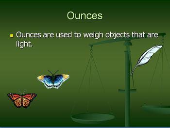 Measurement : Pounds and Ounces