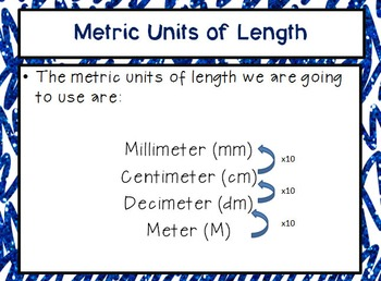 Measurement PowerPoint & Note Taker - Metric Units of Length