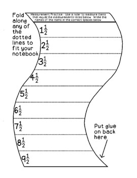 Measurement Practice Activity - Nearest One Half Inch Math PDF Printable