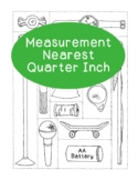 Measurement Practice Activity - Nearest One Quarter Inch Math PDF Printable
