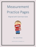 Measurement Practice Pages