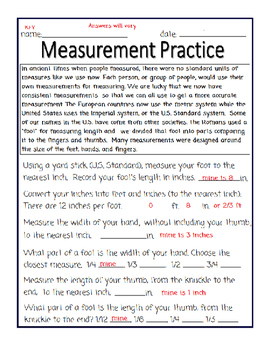 Measurement Practice-Ruler and Addition Segment Postulates