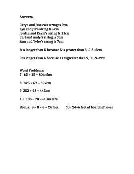 Measurement Practice/Quiz with Key