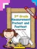 Measurement Pretest and Posttest ~ 3rd Grade CCSS