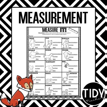 First Grade Measurement Printable Sheets for Practice or Assessment!