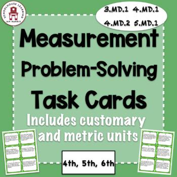 Measurement Problem Solving Task Cards