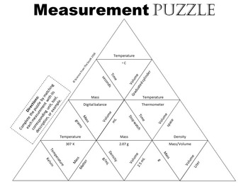 Measurement Puzzle FREEBIE for Review or Assessment
