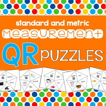 Measurement QR Puzzles - Standard and Metric Conversions