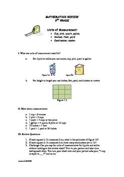 Measurement Quick Review Sheet